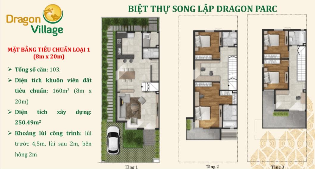 biệt thự song lập dự án dragon village 8x20_m