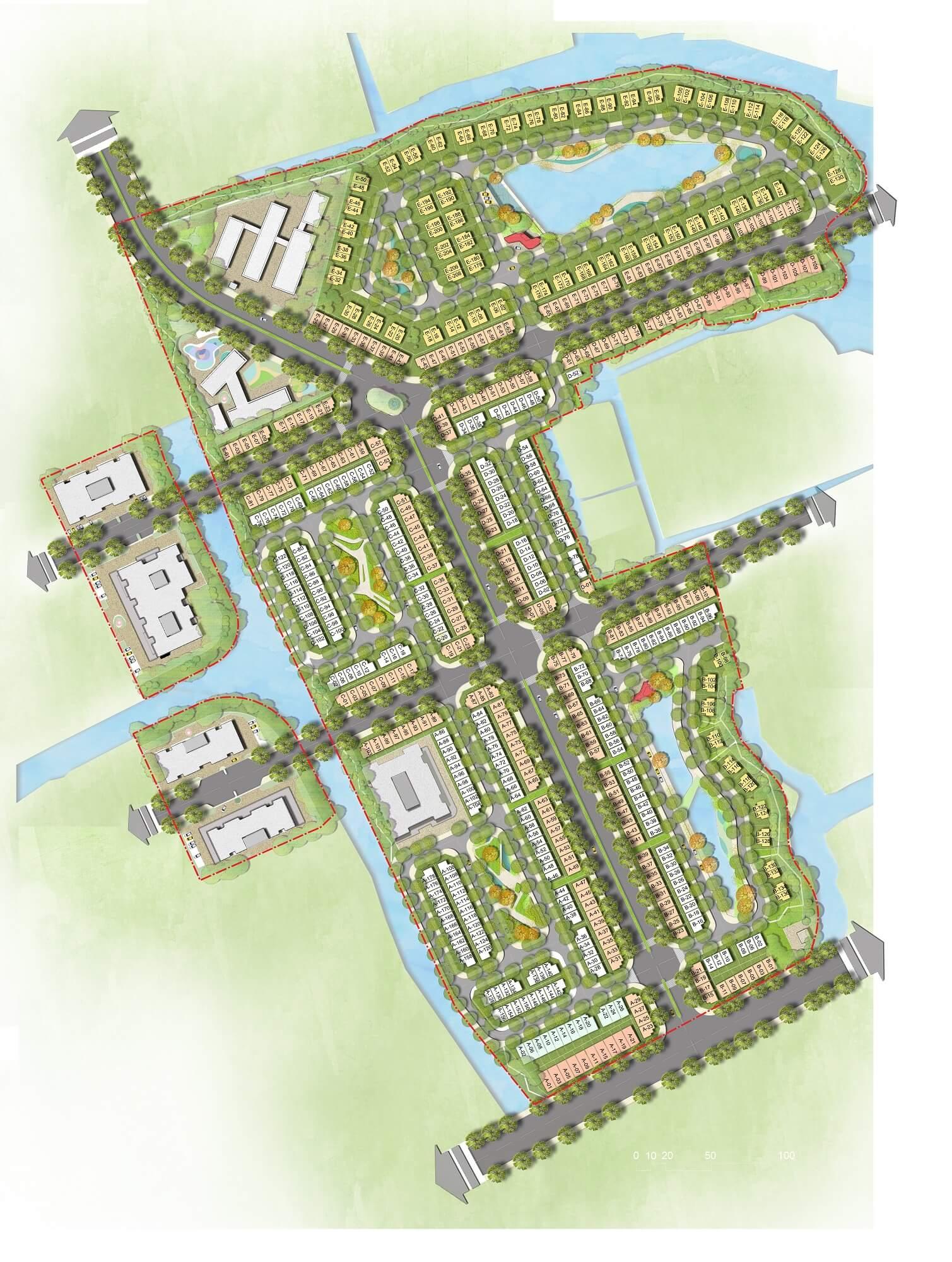 mặt bằng dự án dragon village quận 9
