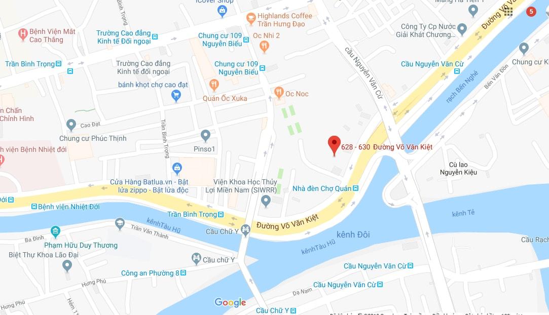 vị trí căn hộ dragon riverside city quận 5