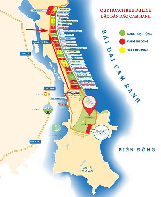 vị trí dự án biệt thự ana mandara cam ranh
