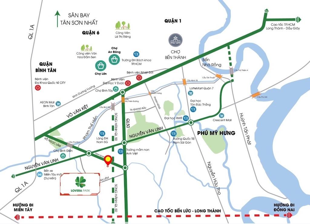 Vị Trí Lovera Park Khang Điền