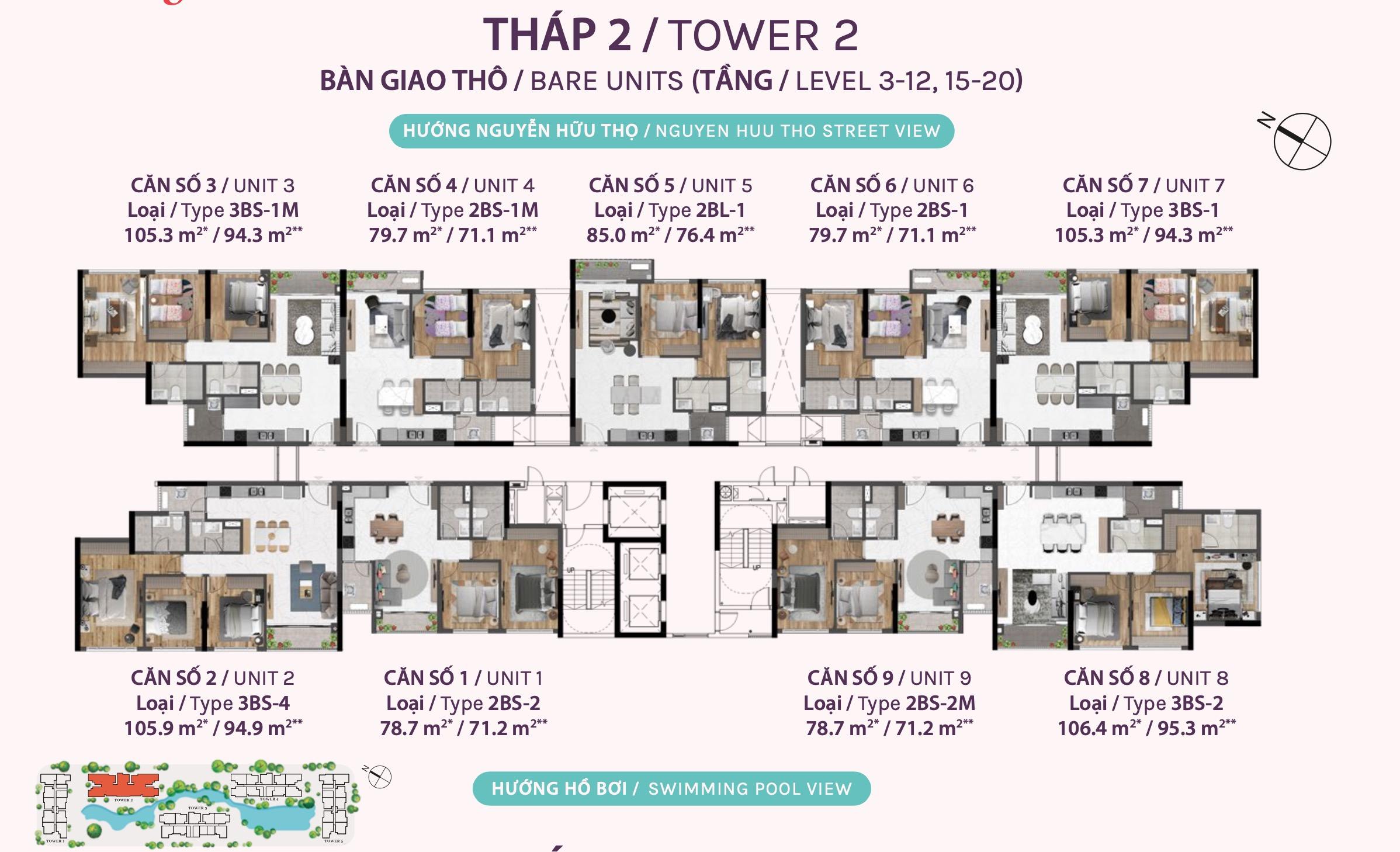 mặt bằng căn hộ celesta rise tháp 2