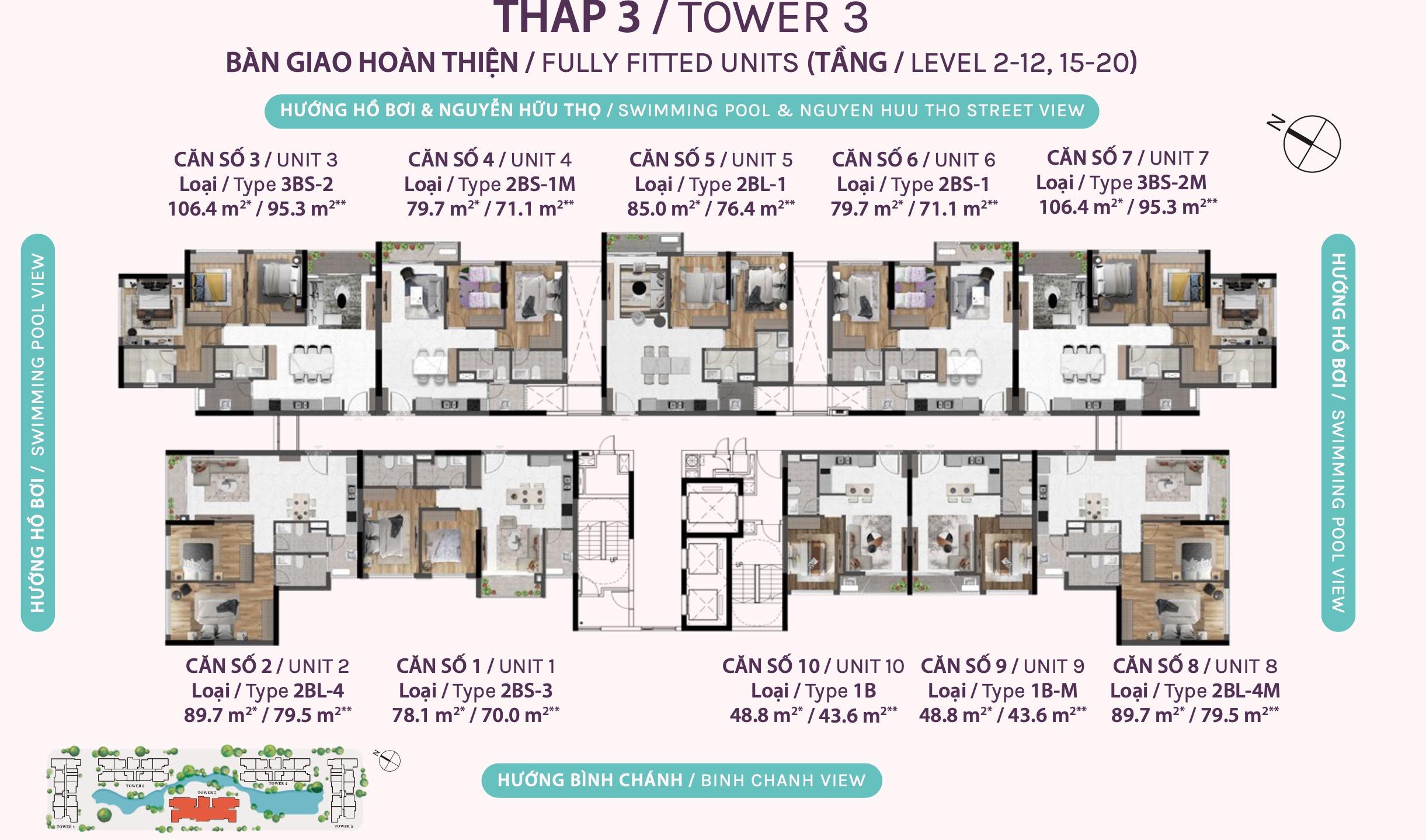 mặt bằng căn hộ celesta rise tháp 3